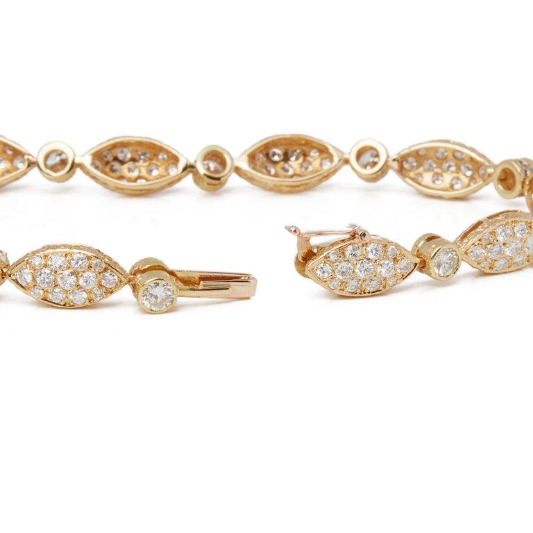 Round Cut Van Cleef & Arpels 18 Karat Yellow Gold Diamond Bracelet For Sale