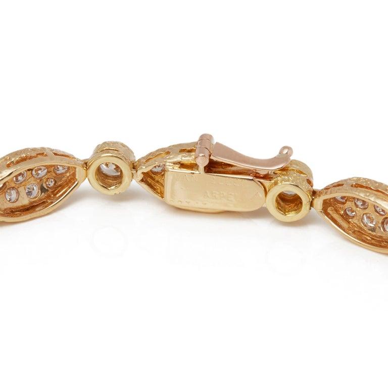 Van Cleef & Arpels 18 Karat Yellow Gold Diamond Bracelet In Good Condition For Sale In Bishop's Stortford, Hertfordshire