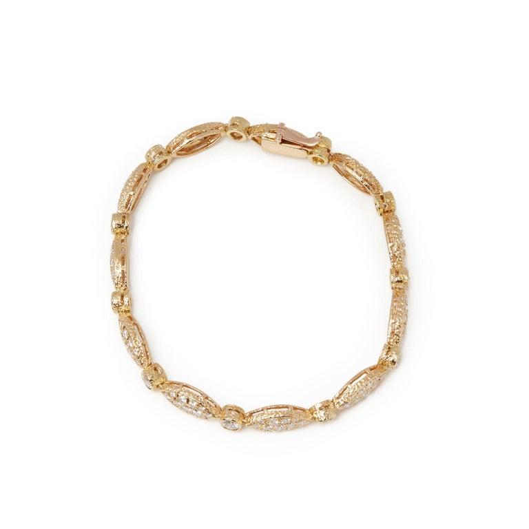Women's Van Cleef & Arpels 18 Karat Yellow Gold Diamond Bracelet For Sale