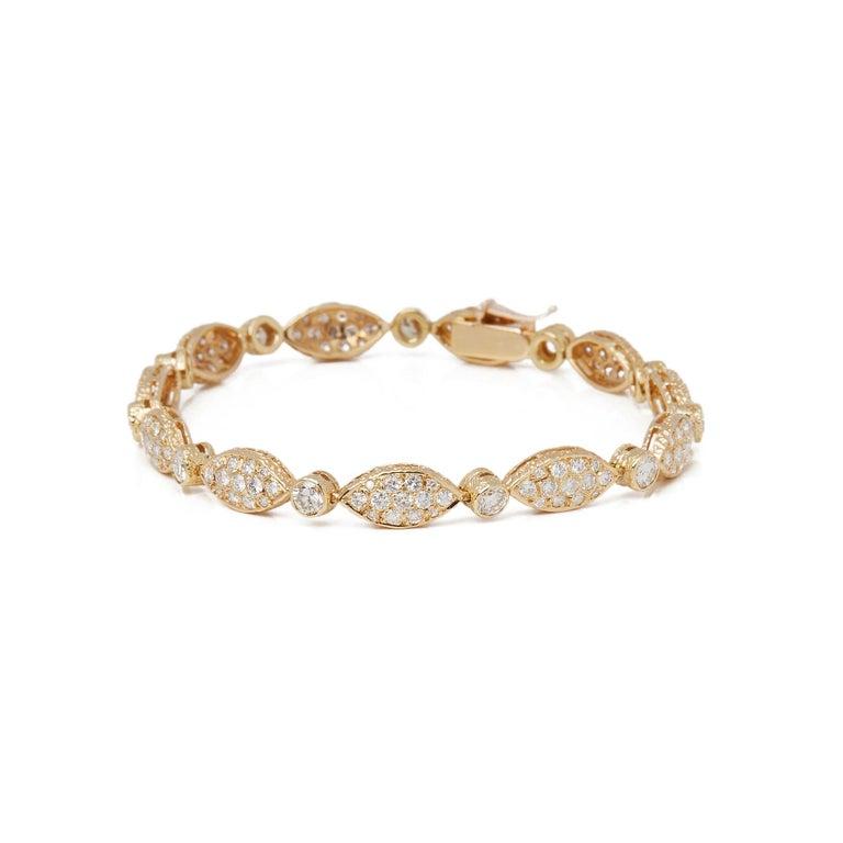 Van Cleef & Arpels 18 Karat Yellow Gold Diamond Bracelet For Sale 2