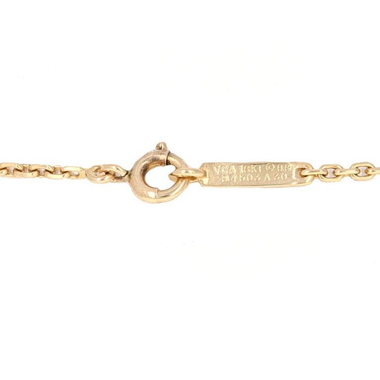 Van Cleef & Arpels 18 Karat Yellow Gold Diamond Interchangable Pendant Necklace In Excellent Condition For Sale In Beverly Hills, CA