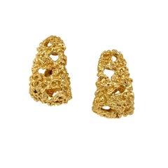 Signed Van Cleef & Arpels 18 Karat Yellow Gold Earrings