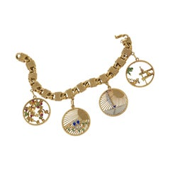 Van Cleef & Arpels 1950s Charm Bracelet