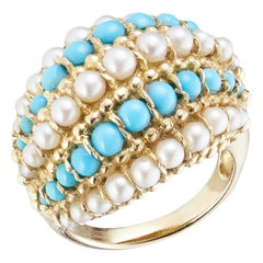 Van Cleef & Arpels 1960s Turquoise and Pearl Ring
