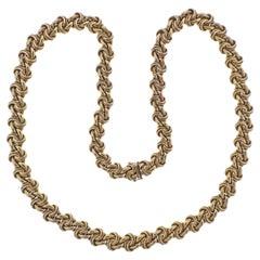 Van Cleef & Arpels 1960s Woven Gold Necklace