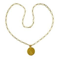 Van Cleef & Arpels 1970s Aquarius Zodiac Pendant Necklace