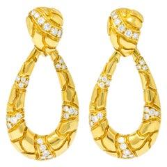 Van Cleef & Arpels 2.00 Carat Diamond 18 Karat Gold Day Night Earrings
