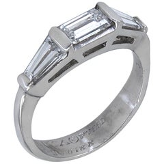 Van Cleef & Arpels 3-Stone Diamond Platinum Ring