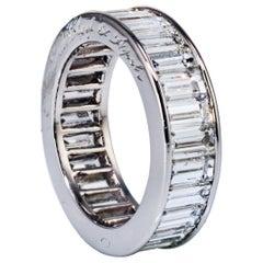 Van Cleef & Arpels 5.82 Carat Baguette Diamond Platinum Eternity Band