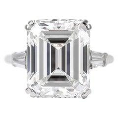 Van Cleef & Arpels 8.94 Carat E VVS1 Emerald Cut Diamond Ring