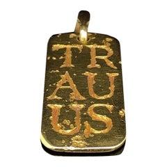 Van Cleef & Arpels, A Gold Zodiac Taurus Pendant 18 Karat Yellow Gold