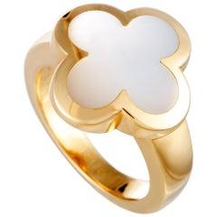 Van Cleef & Arpels Alhambra 18 Karat Yellow Gold Mother of Pearl Ring