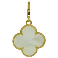 Van Cleef & Arpels Alhambra Mother of Pearl Yellow Gold Large Pendant