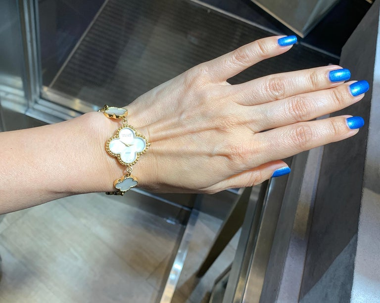 Van Cleef & Arpels Alhambra Watch In Excellent Condition For Sale In New York, NY