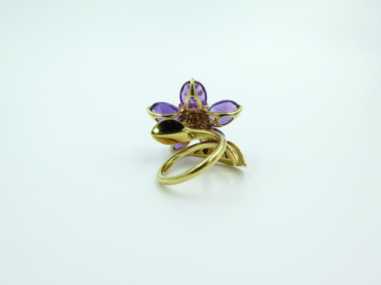 Van Cleef & Arpels Amethyst and Pink Sapphire Ring In Excellent Condition In New York, NY