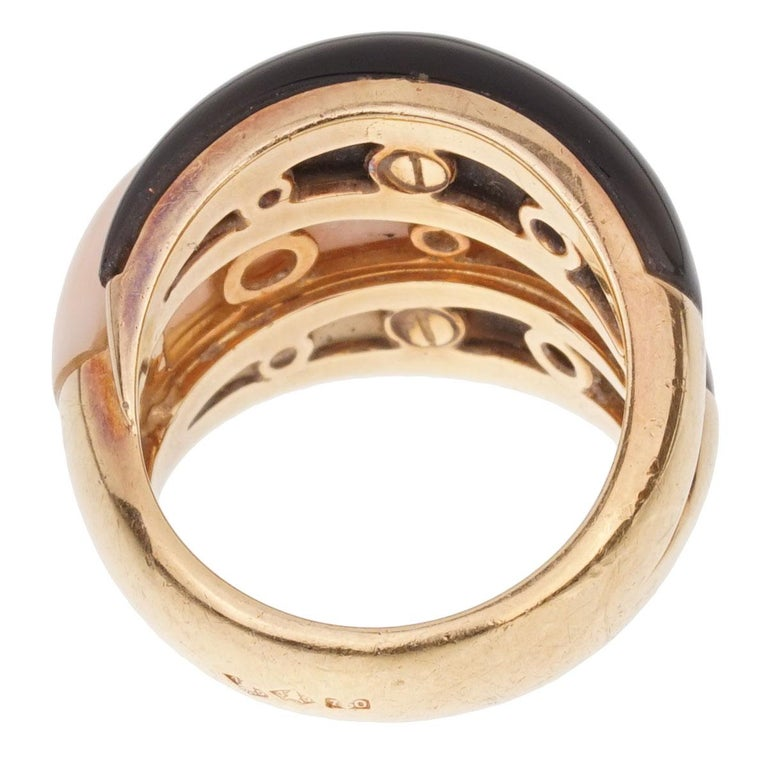 Van Cleef & Arpels Angel Skin Coral Bombe Yellow Gold Ring For Sale 1