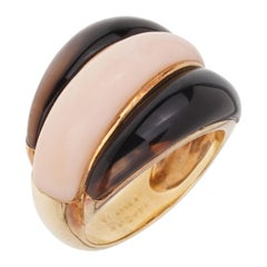 Van Cleef & Arpels Angel Skin Coral Bombe Yellow Gold Ring