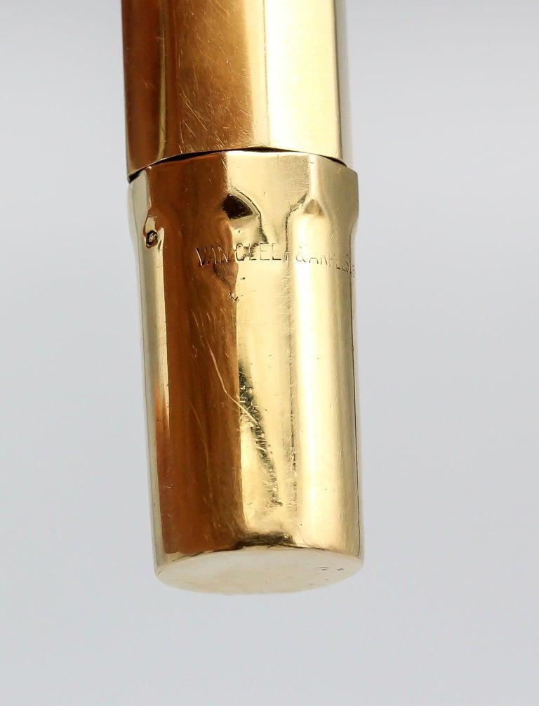 Van Cleef & Arpels Art Deco 18 Karat Gold Fountain Pen For Sale 2