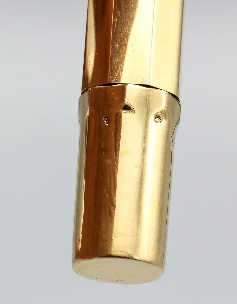 Van Cleef & Arpels Art Deco 18 Karat Gold Fountain Pen For Sale 3