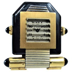 Van Cleef & Arpels Art Deco Clip on Watch circa 1930s by Verger