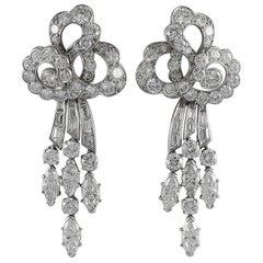 Van Cleef & Arpels Art Deco Diamond Ear Clips