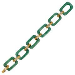 Van Cleef & Arpels Aventurine Quartz and Diamond Bracelet