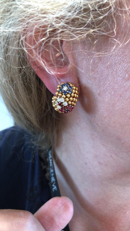 Van Cleef & Arpels Bagatelle Bombe Ring Earring Suite For Sale 3