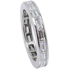 Van Cleef & Arpels Baguette Diamond and Platinum Eternity Wedding Band 2.25 TCW