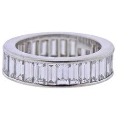 Van Cleef & Arpels Baguette Diamond Platinum Eternity Wedding Band Ring