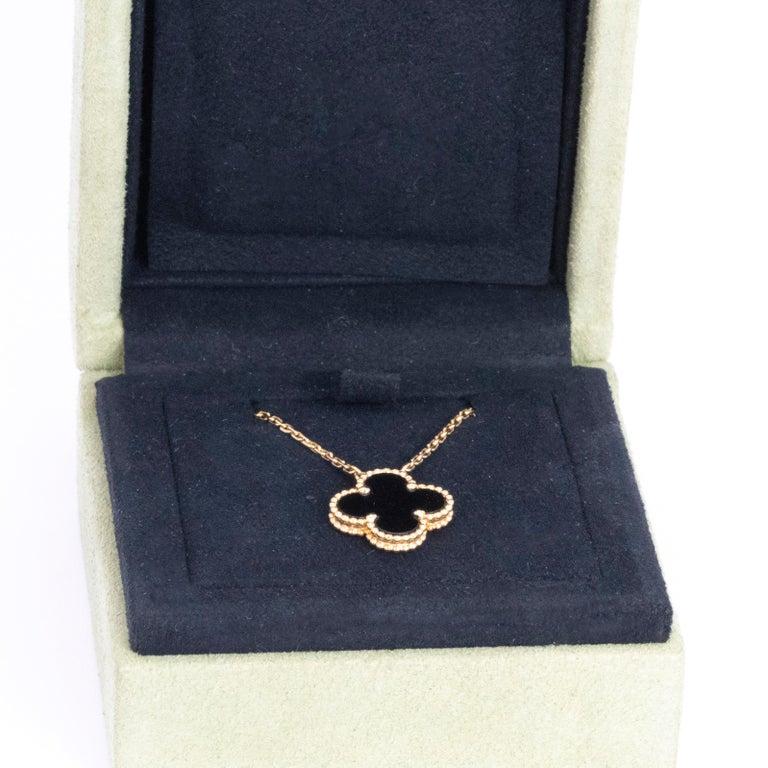 Modern Van Cleef & Arpels Black Onyx Pendant Necklace For Sale