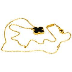 Van Cleef & Arpels Black Onyx Pendant Necklace