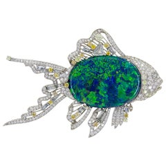 Van Cleef & Arpels Black Opal Fish Brooch
