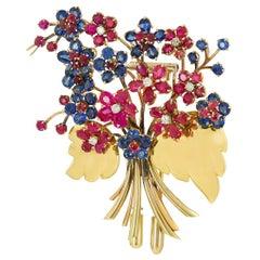Van Cleef & Arpels Bouquet Hawaii Early Clip Brooch