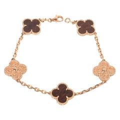 Van Cleef & Arpels Bracelet Alhambra Collection 18 Karat Gold Bois D'amourette