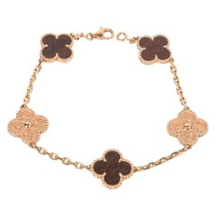 Van Cleef & Arpels Bracelet Alhambra Collection 18k Rose Gold Bois D'amourette