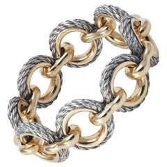 Van Cleef & Arpels Bracelet in Yellow Gold and silver.