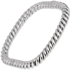 Van Cleef & Arpels Braided White Gold Bangle Bracelet