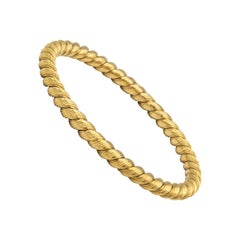 Van Cleef & Arpels Braided Yellow Gold Stackable Bangle Bracelet