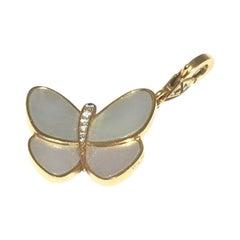 Van Cleef & Arpels Butterfly Diamond Mother of Pearl Charm ARD33200