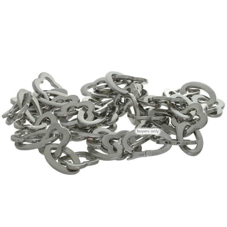 Van Cleef & Arpels Byzantine Alhambra White Gold Link Necklace For Sale 1