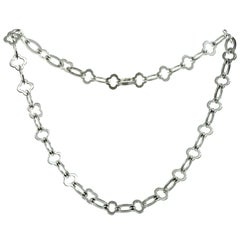 Van Cleef & Arpels Byzantine Alhambra White Gold Link Necklace