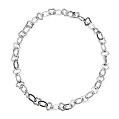 Van Cleef Arpels Byzantine Alhambra White Gold Necklace