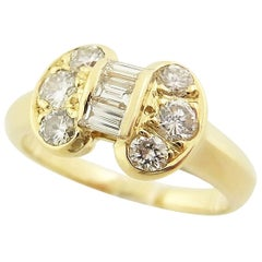 Van Cleef & Arpels Celestine Diamond 18 Karat Yellow Gold Ring