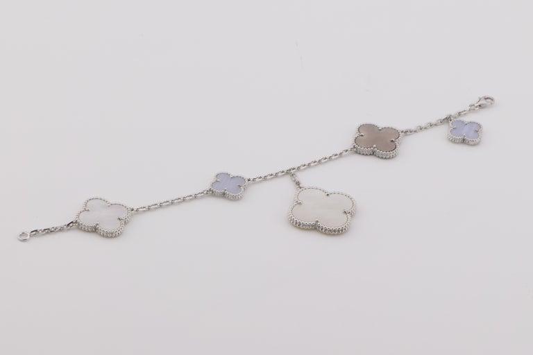 Van Cleef & Arpels Chalcedony Mother-of-pearl Magic Alhambra Bracelet 1