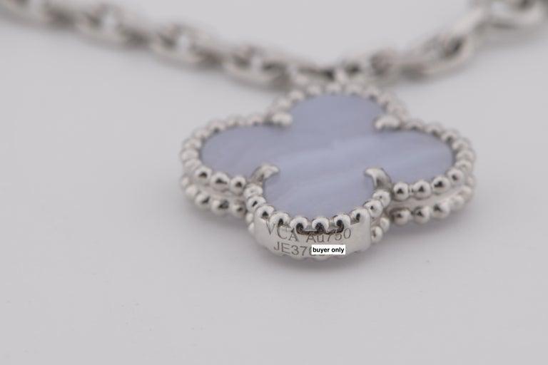 Van Cleef & Arpels Chalcedony Mother-of-pearl Magic Alhambra Bracelet 2