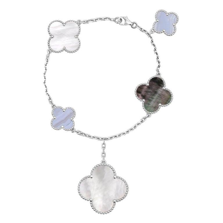 Van Cleef & Arpels Chalcedony Mother-of-pearl Magic Alhambra Bracelet