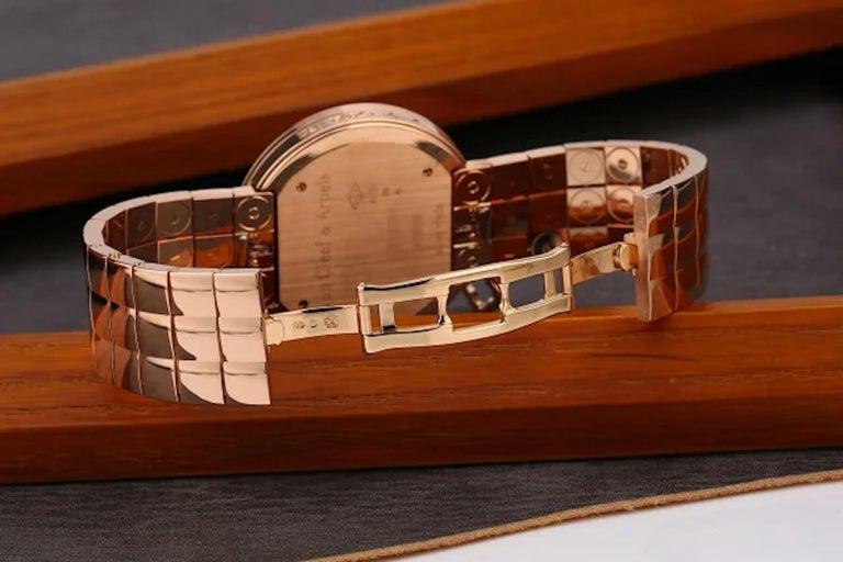 Women's Van Cleef & Arpels Charms Rose Gold Diamond Quartz Watch VCARN5LF00 For Sale