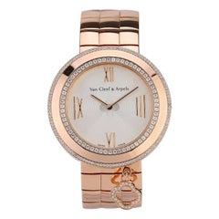 Van Cleef & Arpels Charms Rose Gold Diamond Quartz Watch VCARN5LF00