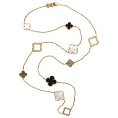Van Cleef & Arpels & Chloe, a Rare, Limited-Edition 18K Gold Alhambra Necklace
