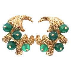 Van Cleef & Arpels Chrysoprase Gold Earrings